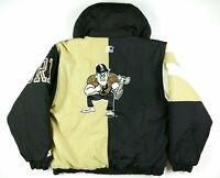 VTG Starter Purdue Boilermakers Puffer Jacket 2 Tone Anorak Pullover Mens Medium