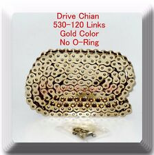 Drive Chain Gold Color 530-120 Link (No O-Ring) For Suzuki GSXR 1000 GSX-R750