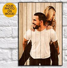 Personalised Anniversary gifts for him gifts for her Picture on wood photo frame