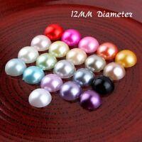 300pcs Resin Plastic Imitation Flatback Half Pearl Buttons Acrylic Pearl Beads