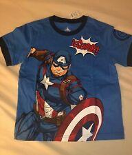Hong Kong Disneyland Captain America T-shirt Kids Sz Medium Child Marvel Rare