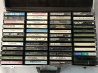 42 Mixed Country Rock Big Band 50s 60s 70s Cassette Tapes & Briefcase Huge Lot
