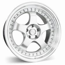 ESR SR06 18x8.5 +30 5x114.3 Hyper Silver w/ Machined Lip (Set of 4)