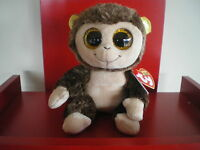 Ty Beanie Boos AUDREY the monkey 6 inch NWMT.EUROPEAN EXCLUSIVE. VERY CUTE.
