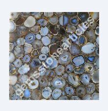 "15""x15"" Wild Agate Stone Center Side Table Top Decoratione Garden Area Decor Art"