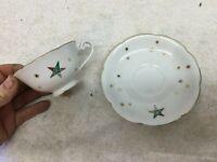Vtg Porcelain Mug And Saucer Mason Knights Templer Odd Fellows Coffee Mug Japan