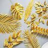 Luxus Gold künstliche Schildkröte Blätter Simulation Pflanzen Zweig DIY Hochzeit