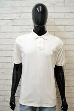 Polo Maglia Uomo RALPH LAUREN Taglia XL Manica Corta Shirt Man Cotone Bianco
