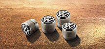 Volkswagen Wheel and Tyre valve cap set genuine accessory Tiguan Transporter