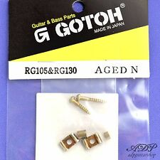 STRING RETAINER BUTTERFLY GOTOH Passe Cordes pour Strat Tele NICKEL AGED (RELIC)