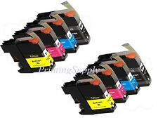 8PK New Hi-Yield Ink For Brother LC103 XL LC101 MFC-J470DW J475DW DCP-J132W J152