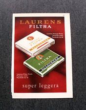 L973- Advertising Pubblicità -1960- LAURENS FILTRA SUPER LEGGERA