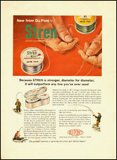 1959 vintage fishing ad, STREN Monofilament Spinning Line, DuPont -032813