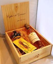 """COFFRET DU GOURMET CAISSE BOIS  vin moelleux - foie gras- chocolat """"cadeau"""""""
