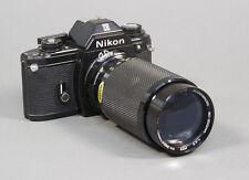Nikon EM 35mm SLR Film Camera with an 80-200 Macro Zoom Lens - Working