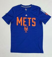 BARELY WORN Majestic MLB NY Mets Polyester T-shirt Youth L Adult S