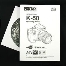 Pentax K-50 Digital Camera Operating Manual / Instruction Book & Cd-Rom #Qf4 New