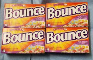 4x Bounce Spring Awakening Fabric Softener Dryer Sheets 80ct Scent Level 3 NIB