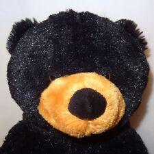 """Black Teddy Bear Lonnie 14""""  Plush Stuffed Animal 2006 Wishpets"""
