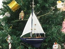 Wooden Gone Sailing Model Sailboat Christmas Tree Ornament - Nautical Christmas
