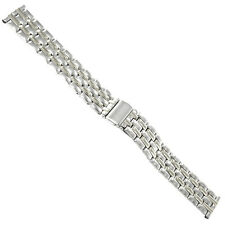 18mm Morellato Stainless Steel Silver Tone Push Button Fold Clasp Watch Band