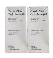Starbucks (2 Pack) Classic Chai Concentrate Spiced Black Teas Lattes 1QT 04/2020