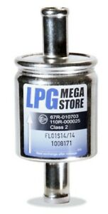 LPG GPL Gasfilter 14 mm Autogas Filter 14mm  mit 67R Nummer GPL