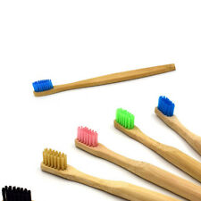 5 pcs Natural Bamboo Soft Bristle Toothbrushes Wooden Handle Adult Oral Care Lot