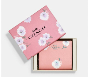 NWT COACH Bubblegum Pink Small Snap Wallet BOXED C2889 $198