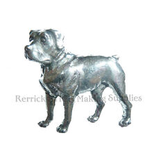 ONE PEWTER BADGE FOR WALKING STICK MAKING ROTTWEILER
