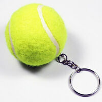 NE_ 3D Mini Tennis Ball Key Chain Key Ring Decoration Accessory Gift for Sport F