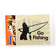 Go Fishing Sticker Decals Cool funny car styling decoration Black Useful