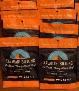 Kalahari Biltong Air Dried Sliced Beef (Pack of 8, 2 OZ Packs) Original