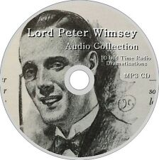 LORD PETER WIMSEY Mysteries 10 Radio Dramatisations Audio Collection MP3 CD