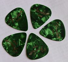 Fender 351 Guitar Pick Premium Thin Green 5 picks