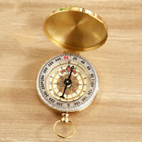 Creative Brass Watch Outdoor Camping Hiking Navigation Compass Keychain Q4B5