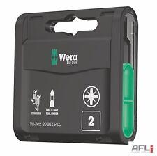 20 Pack Wera 057761 BTZ BiTorsion Extra Tough Pozi PZ2 25mm Screwdriver Bit Box