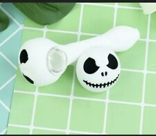 Portable Smoking Pipe Skull Type Glass bowl Hand Pipes Tobacco Herb Halloween🌿