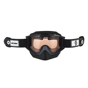 Ski-Doo New OEM Black Holeshot Speed Strap Goggles, 4484930090