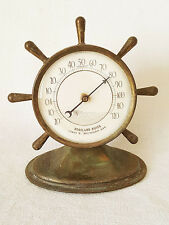 Vintage Ship Wheel Desk Fahrenheit Thermometer Roseland Buick Dealership 10432