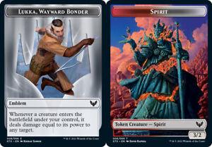 1x Emblem - Lukka, Wayward Bonder (008) // Spirit (006) Token - FOIL MTG Strixha