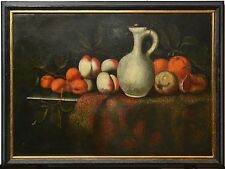 Antique Holland 17th Century Baroque Oil Painting on Canvas : Still Life