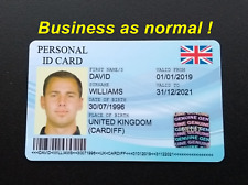 More details for novelty personal id card, personalised identification, student, university etc.