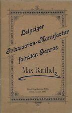 Max Barthel - Leipzig Pelzwaaren - Pellicceria Lipsia Catalogo 1895/96 Tappeti