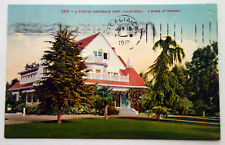 A Typical Residential View Home in FRESNO, CALIFORNIA Postcard c. 1910;H639