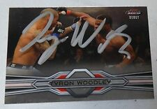 Tyron Woodley Signed UFC 2013 Topps Finest Rookie Debut Card 88 RC Autograph 171