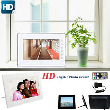 7inch HD LCD Digital Photo Frame with Alarm Stand Clock Slideshow MP3/4 Player