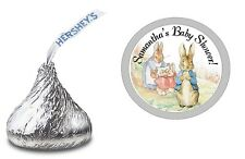 PETER RABBIT PERSONALIZED HERSHEY KISS KISSES LABELS BABY SHOWER PARTY FAVORS