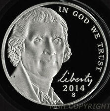 2014 S Proof Jefferson Nickel 5c Gem Deep Cameo from sealed US Mint Set