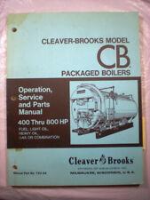 Cleaver Brooks Packaged Boilers Manual Asbestos Gasket Rope Aqua Chem 1970's